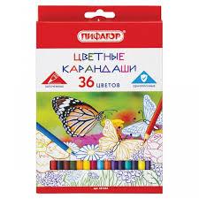 <b>Пифагор Карандаши цветные</b> классические заточенные ...