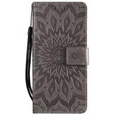 2019 的 Embossing <b>Sunflower Leather Wallet</b> Case for Samsung ...