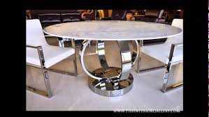 round white marble dining table: modern luxury round dining table white marble cerchio