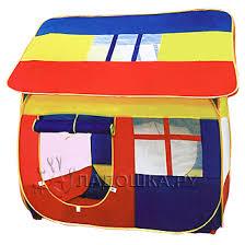 <b>палатка Домик</b> 130х115х145 см без мячей <b>Play smart</b> - купить в ...