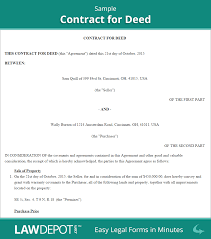 land contract forms contract for deed form us lawdepot related documents