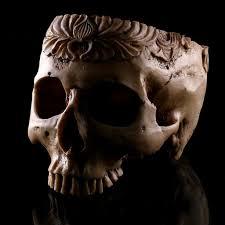 2pcs Resin <b>Skull</b> Head Shped Flower Pot <b>Halloween Scene</b> ...