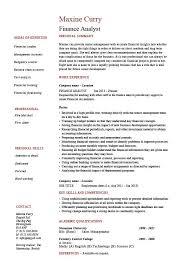 finance analyst resume  analysis  sample  example  modelling    buy this resume