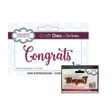 Details about Congrats Word <b>Metal</b> Die <b>Cut Creative Expressions</b> ...