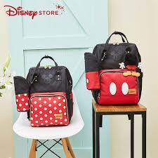 <b>Disney</b> Minnie Mickey Classic <b>Style</b> Diaper Bags 2PCS/SET <b>Mummy</b> ...