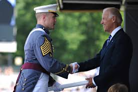 u s department of defense photo essay vice president joe biden shakes hands army cadet 1st capt charles phelps during commencement