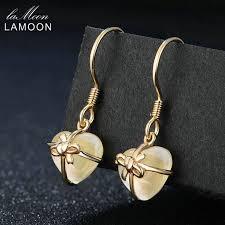 LAMOON <b>Romantic</b> Heart 100% Natural <b>Citrine</b> 925 Sterling Silver ...