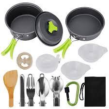 Camping <b>Cookware</b> 15Pcs Backpacking Gear Hiking <b>Outdoors</b> Non ...
