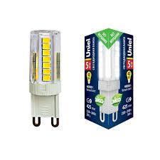 <b>Лампа</b> светодиодная <b>Uniel</b> (Юниел) (ul-00006749) <b>g9 5w 4000k</b> ...