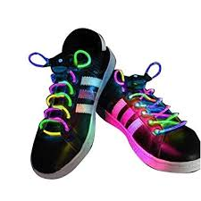 <b>LED Shoelaces</b> Light Up Flashing Fibre Glow Laces Perfect Battery...