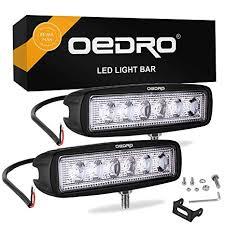 oEdRo LED Light Bar 2pcs 6 Inch 18W LED Work ... - Amazon.com
