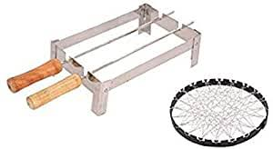 Buy Toxham <b>Portable</b> Folding <b>Outdoor Barbeque</b> Charcoal & Gas ...