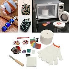 <b>10 pcs</b>/Set Stained Glass Fusing Supplies <b>Professional Microwave</b> ...