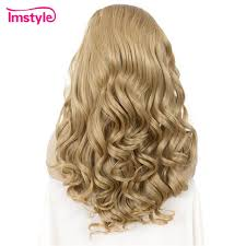 Online Shop <b>Imstyle</b> Long <b>Wavy</b> Blonde Wig Lace Front Wigs For ...
