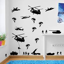 <b>Army</b> Men <b>Military Soldiers Helicopter Wall</b> Decorations Window ...