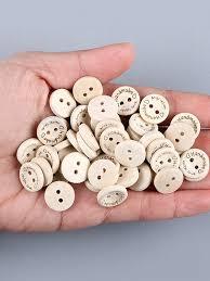 "100 <b>Pcs</b> Wooden Buttons <b>Round</b> Shaped DIY ""Hand made"" <b>Letter</b> ..."