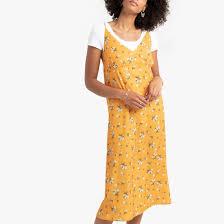 <b>Прямое платье</b> с тонкими бретелями с цветочным принтом ...