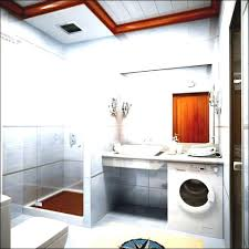 bathroom ideas corner shower design: bathroombright small bathroom design idea also corner shower room and washing machine small space
