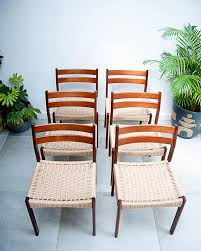 Mid Century Danish <b>Dining Chairs</b> (<b>Set</b> of <b>6</b>) - Gruffertys