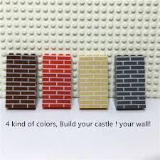 City Castle DIY <b>100 pieces</b>/<b>bag</b> 1X4 House Wall Bricks MOC ...