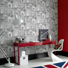 stylish home office feature wall awesome trendy office room space