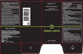 NDC 49967-563 <b>Giorgio Armani Maestro Uv</b> Skin Defense Primer ...
