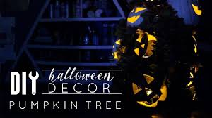 DIY <b>Halloween</b> Decor | <b>Pumpkin Tree</b> Out of a Tomato Cage ...