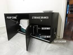 diy cat box cabinet evanandkatelyncom cat litter box furniture diy