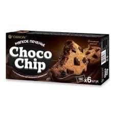 Мягкое <b>печенье Orion Choco</b> chip С кусочками настоящего ...