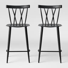 <b>Set Of 2</b> Becket Metal X Back Counter Height Barstool - Project 62 ...