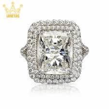 LT <b>Shiny</b> Square <b>Rhinestone</b> Ring Princess <b>Crystal</b> Ring ...