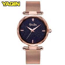 YAQIN luxury brand <b>fashion</b> women <b>watch</b> ladies steel mesh strap ...