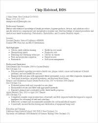 doctor resume templates –    free samples  examples  format    dentist resume template