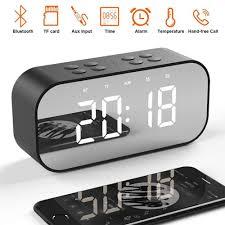 <b>LED Mirror Clock Kids</b> Alarm Clock LED Night Desk Digital Clock ...