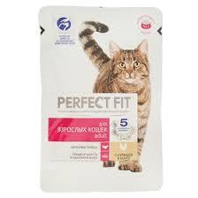 Влажный корм <b>Perfect Fit</b> для кошек, курица, <b>пауч</b>, 85 г (1397362 ...