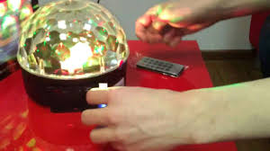 <b>Диско шар</b> c MP3 плеером <b>LED</b> Ball Light - YouTube