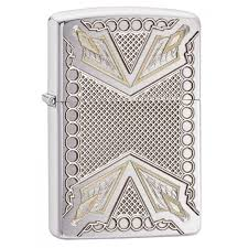 <b>Зажигалка ZIPPO Armor™ с</b> покрытием Brushed Chrome, латунь ...