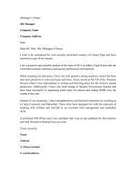 librarian cover letter sample job and resume template librarian cover letter