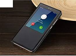 LEMCAS S-View <b>Smart Leather Flip Cover</b> for Xiaomi Redmi Note 4