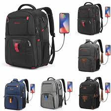 POSO Backpack <b>17.3 Inch</b> USB <b>Laptop Backpack</b> Nylon Waterproof ...