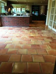Terra Cotta Tile In Kitchen Tiled Floor Wiltshire Tile Doctor