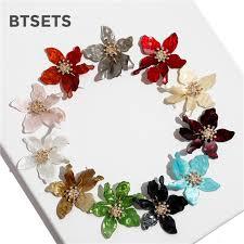 Flower Stud <b>Earrings</b> Female Oorbellen Yellow <b>Statement Earrings</b> ...
