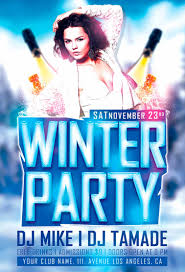 psd winter party flyer template com winter party flyer template preview