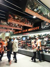 hat trick display at the wells fargo center in philadelphia pa hat trick display at the wells fargo center in philadelphia pa let s go flyers