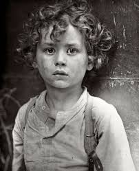 Black and white image of child