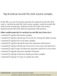 topmedicalrecordsfileclerkresumesamples lva app thumbnail jpg cb