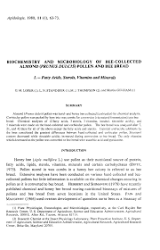 biochemistry and microbiology of bee collected almond prunus first page of the article