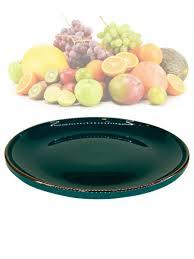 <b>Тарелка десертная</b>, керамическая, <b>круглая</b>, темно-изумрудный ...