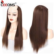 "Leeons 24"" <b>U</b> Part Wig Synthetic Clip In Hair Extension Female Heat ..."