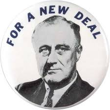 united states presidential election of   united states    franklin d  roosevelt new deal pin